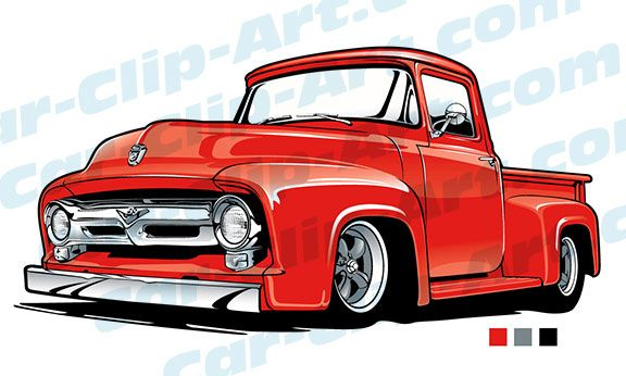Classic clipart car show. Ford truck vector