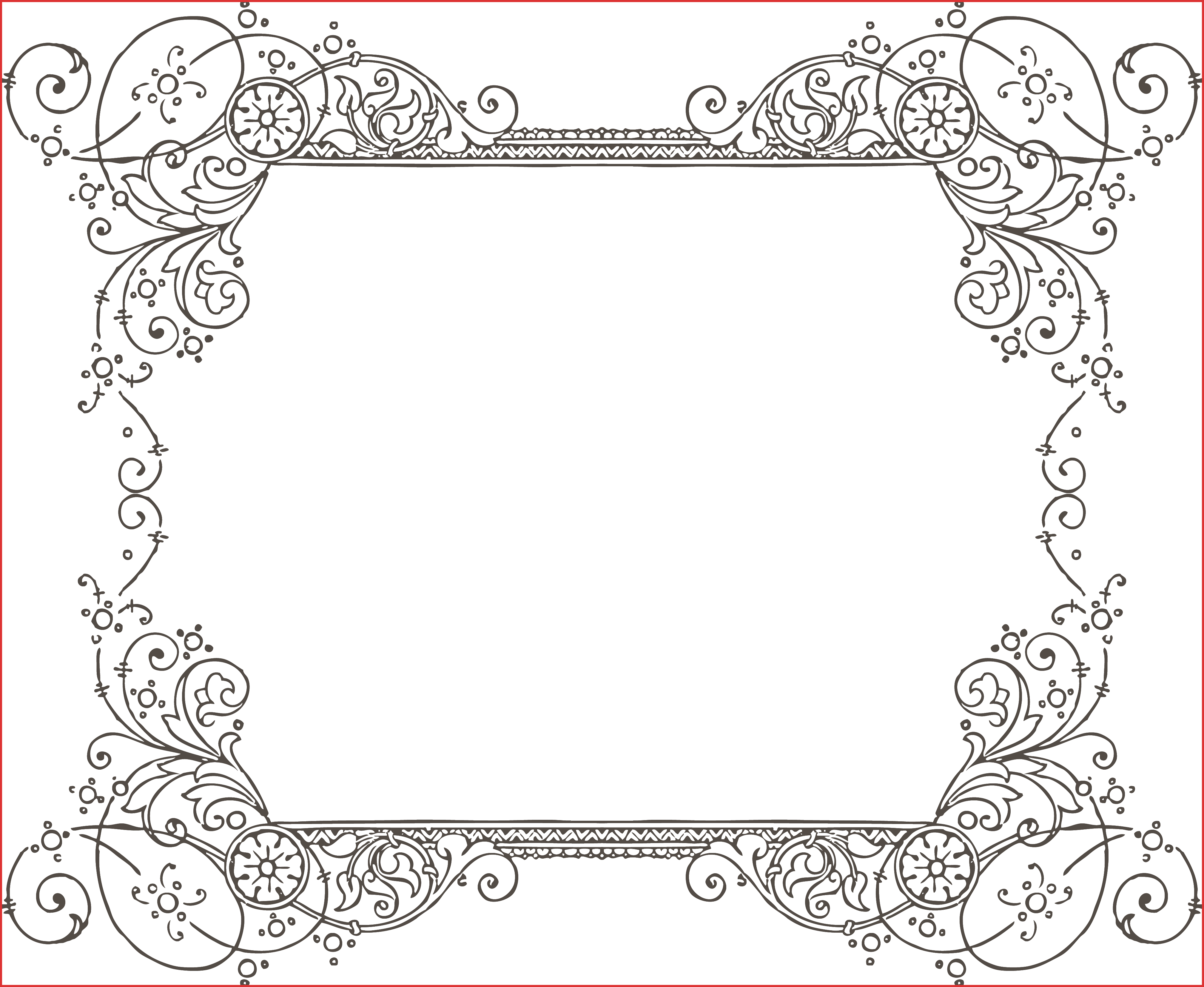 Classic clipart photo frame. Vintage border free vector