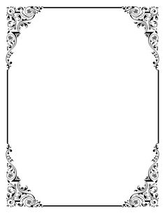 Classic clipart photo frame. Decorative backgrounds for word