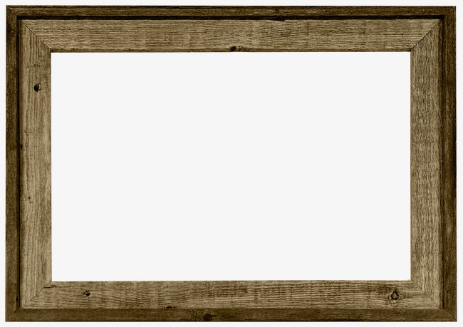 Classic clipart photo frame. Wooden brown texture png