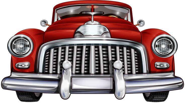 Classic clipart red classic car. Best samochody images
