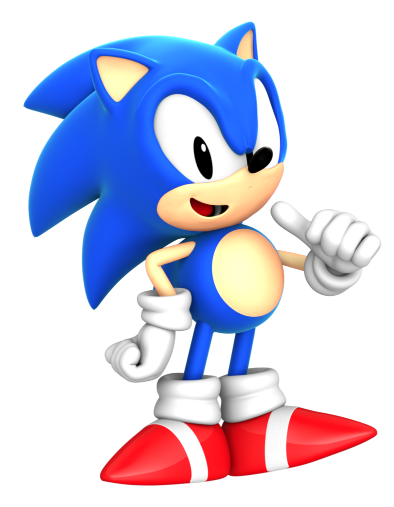 Classic sonic png. Cgi style render by