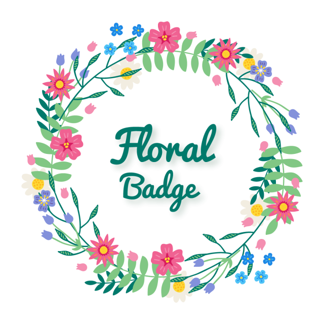 Classic vector abstract. Beautiful badge wreath floral