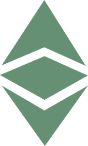 Classic vector abstract. Ethereum etc logo svg
