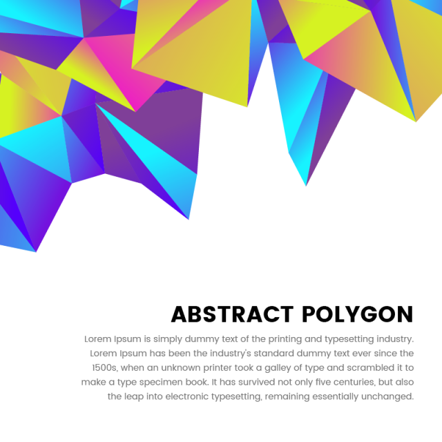 Vector s abstract. Polygonal colorful frame with