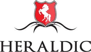 Classic vector shield. Horse and a logo