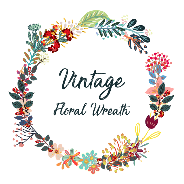 Boho vector wreath. Creative colorful floral vintage