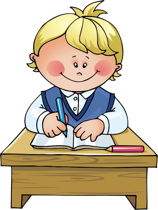 Classroom clipart. School boy leaving for
