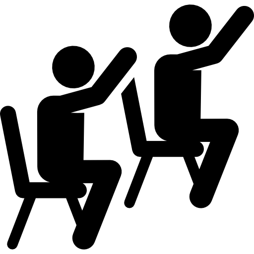 Classroom vector silhouette. Students icon