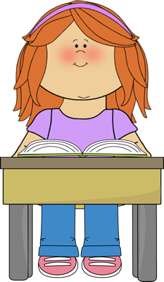 Classroom vector student. Reading school book clip