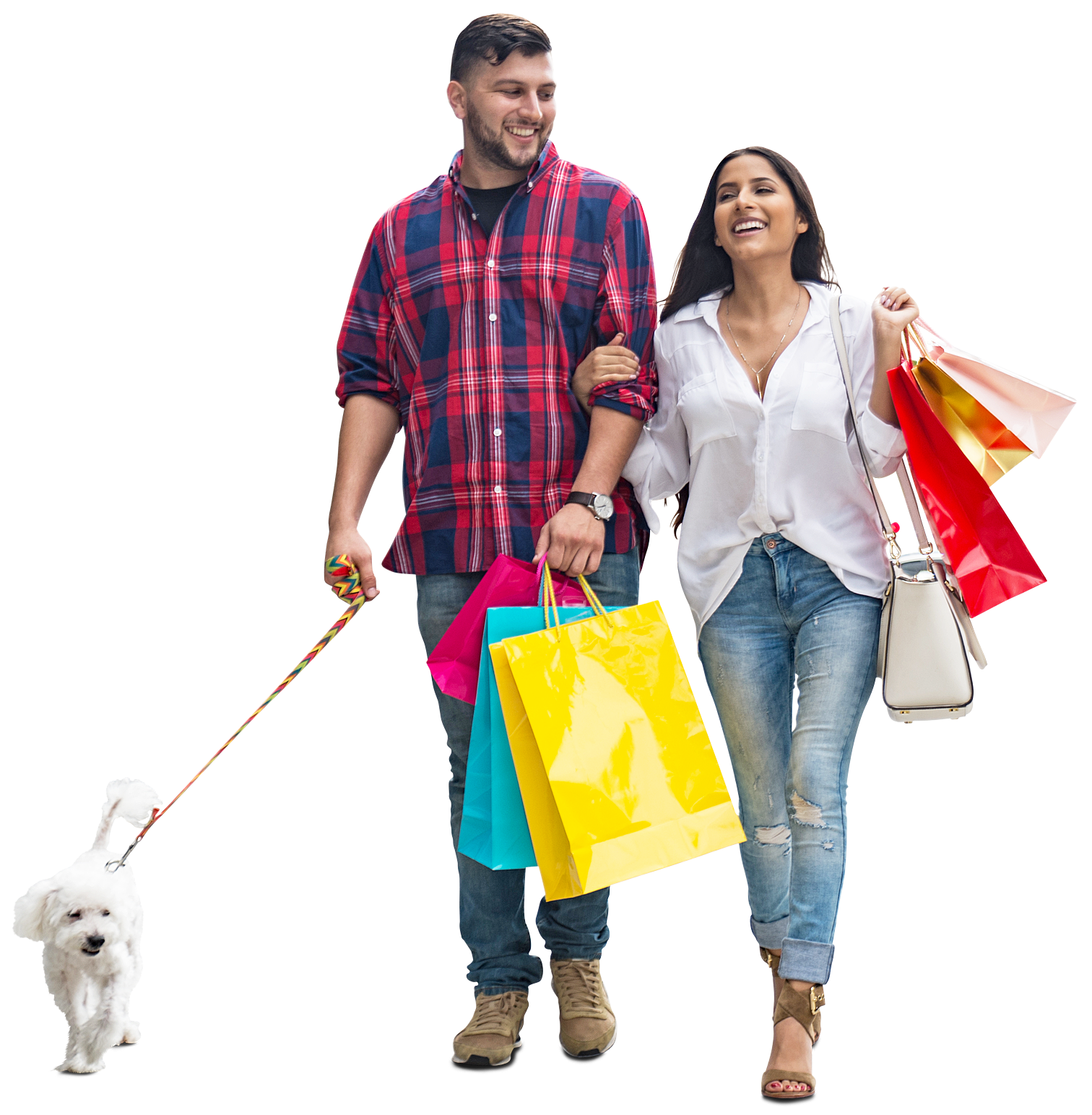shopping transparent couple
