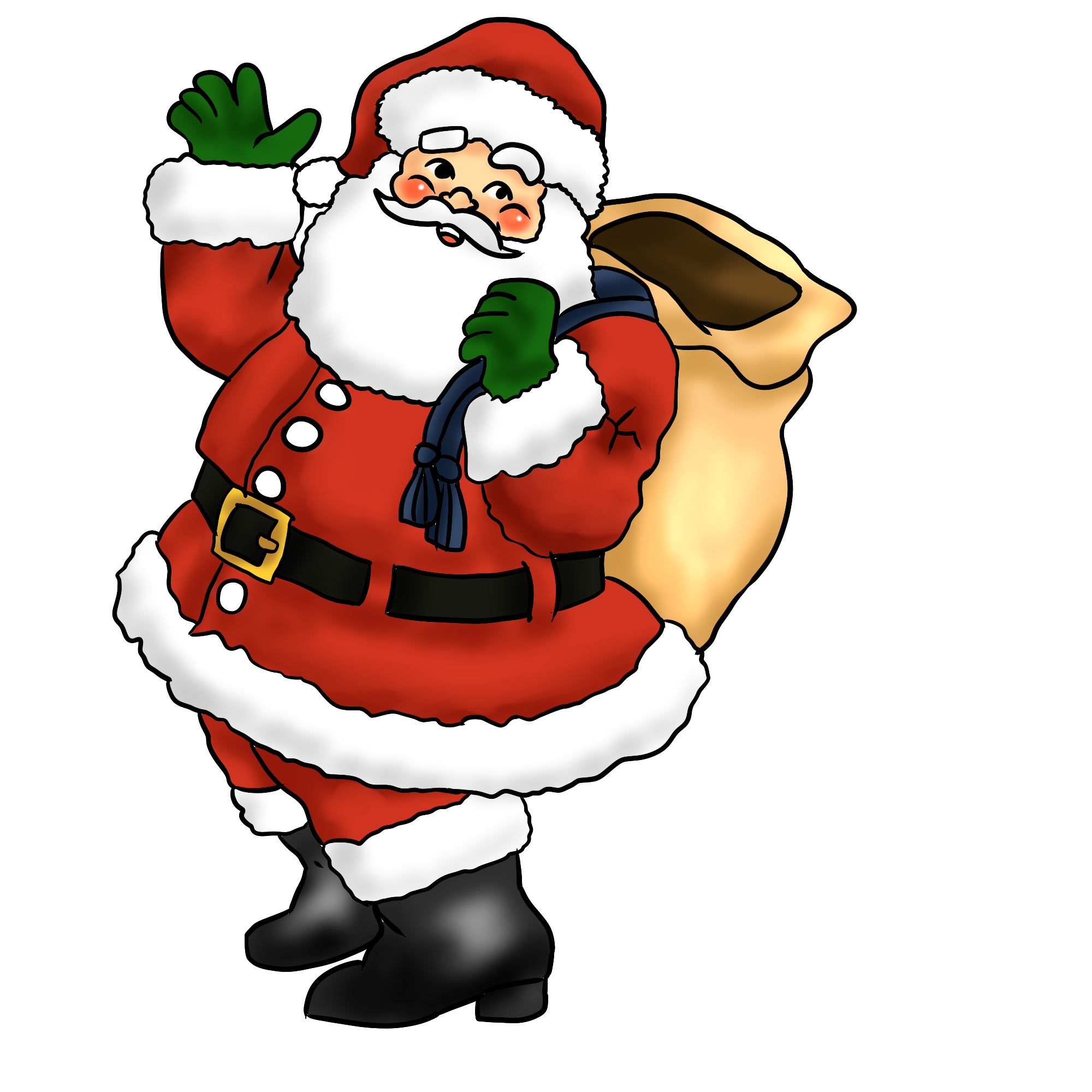 Claus clipart. Christmas santa