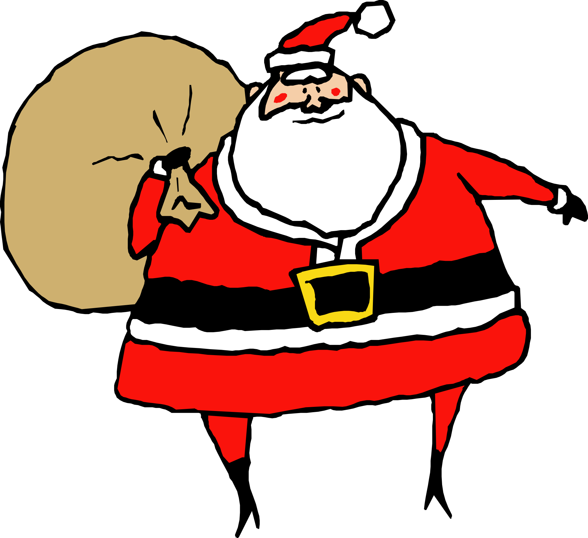 Vector santa minimal. Cute claus clipart at