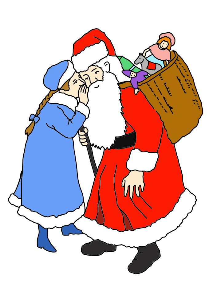 Claus clipart mrs claus. Santa is coming to