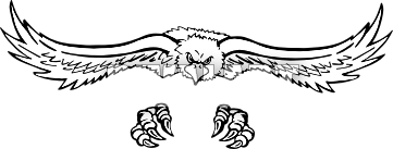 Claws vector eagle. Black clipart pencil and