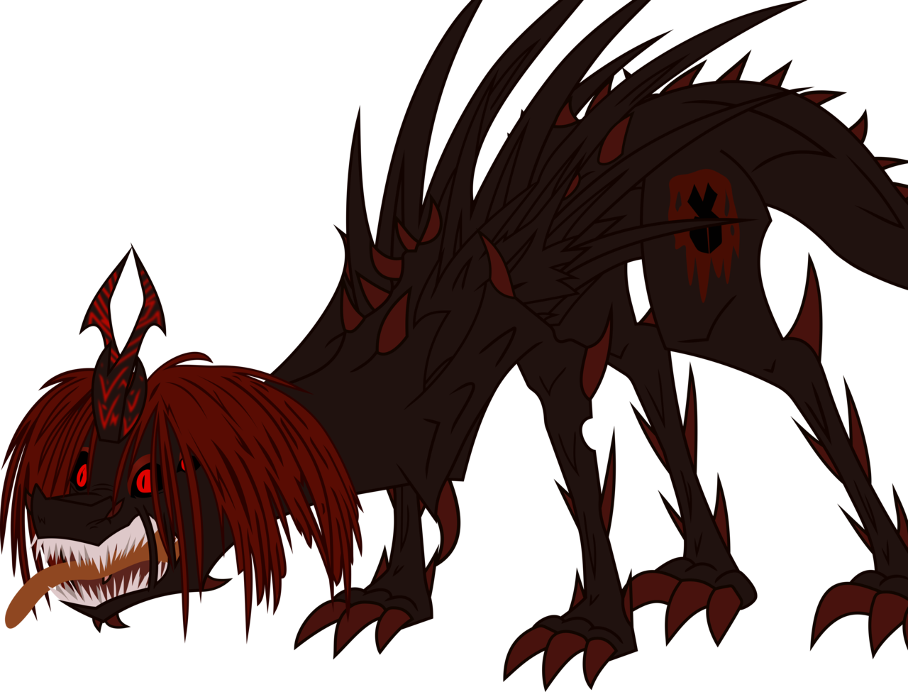 Claws vector monster. Alicorn oc angry
