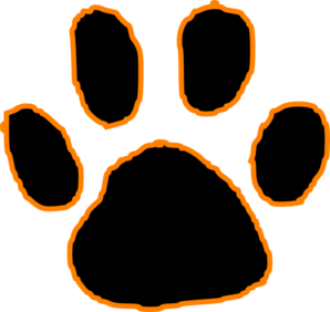Claws vector outline. Tiger paw pictures black