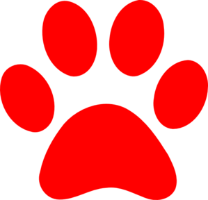 Claws vector panda. Paw print clip art