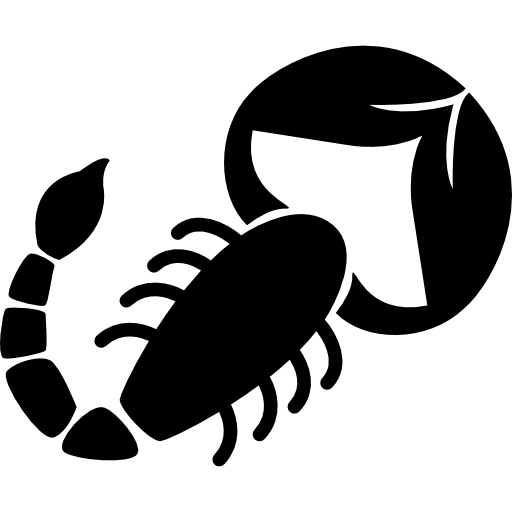 Zodiac drawing scorpion. Shape of sign icons