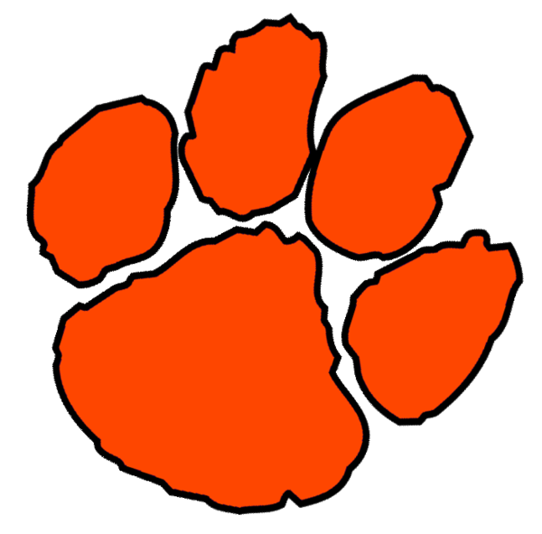 Claws vector tiger hand. Clemson paw print large