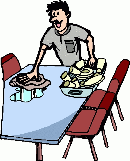 Clean clipart clean dinner table. Kind of letters clear