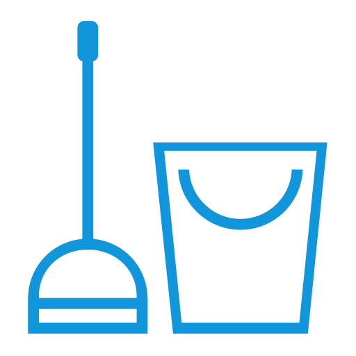 Clean vector housekeeping service. Cleaning house icon