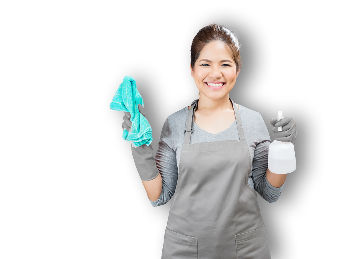 Clean vector housekeeping service. House cleaning services maid