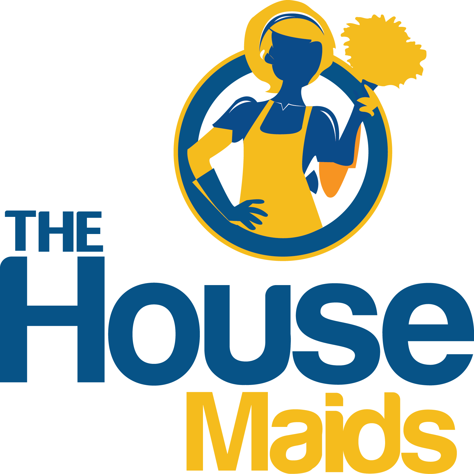 Clean vector housekeeping service. Free house cleaning logos