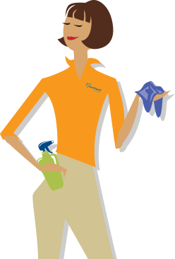 Maid clipart full energy. Trusted cleaning services for