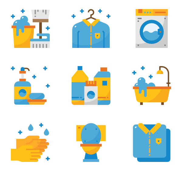 Clean vector mop bucket. Icon packs svg