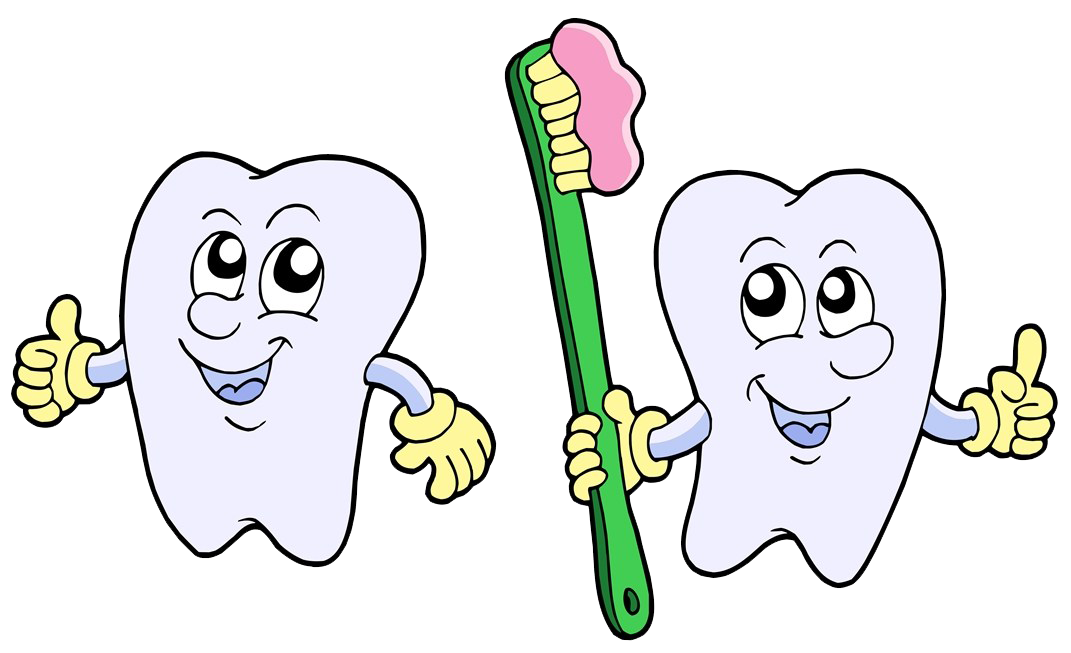 Clean vector tooth cartoon. Brushing royalty free illustration