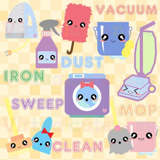 Cleaner clipart cute. Cleaning spring clip art