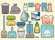Cleaner clipart cute. Pastel electronics clip art