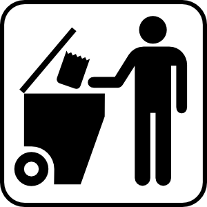 Cleaning clipart proper disposal garbage. Trash clip art at