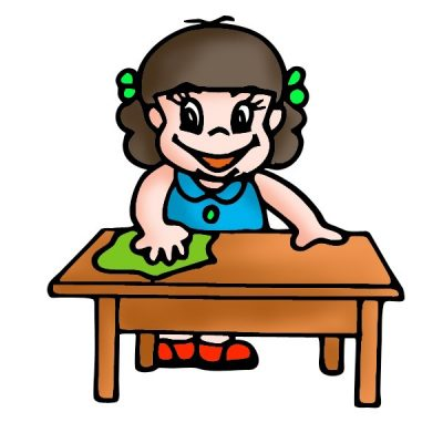 Cleaner clipart student. Cleaning page clipartaz free