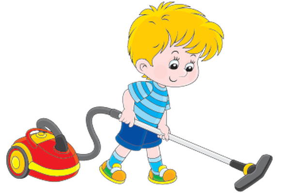 Cleaner clipart student. Boy with a vacuum