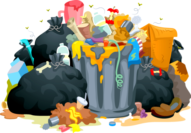Cleaning clipart proper disposal garbage. Improper waste site title