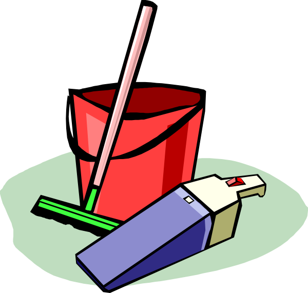 Cleaning drawing animated. Cartoon encode clipart to