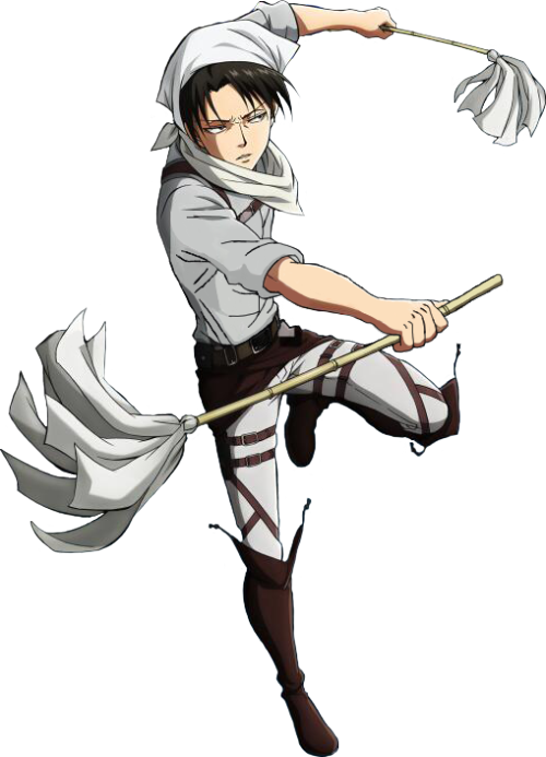 Cleaning drawing anime girl. Nekoerenjaeger transparent levi your