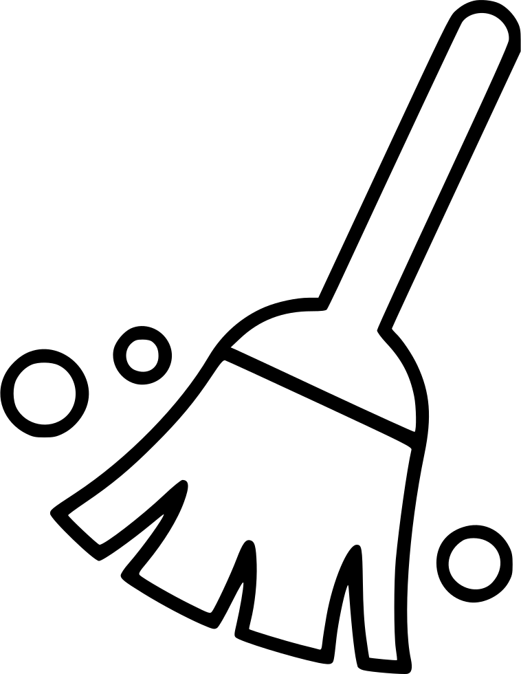 Cleaning drawing broom. Clean sweep svg png