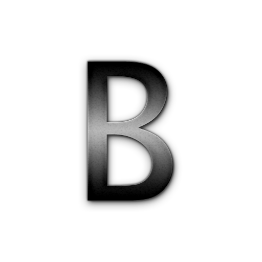 Clear letter png. B icons no attribution
