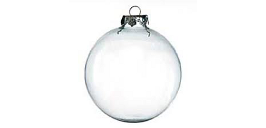 Clear ornament png. White christmas