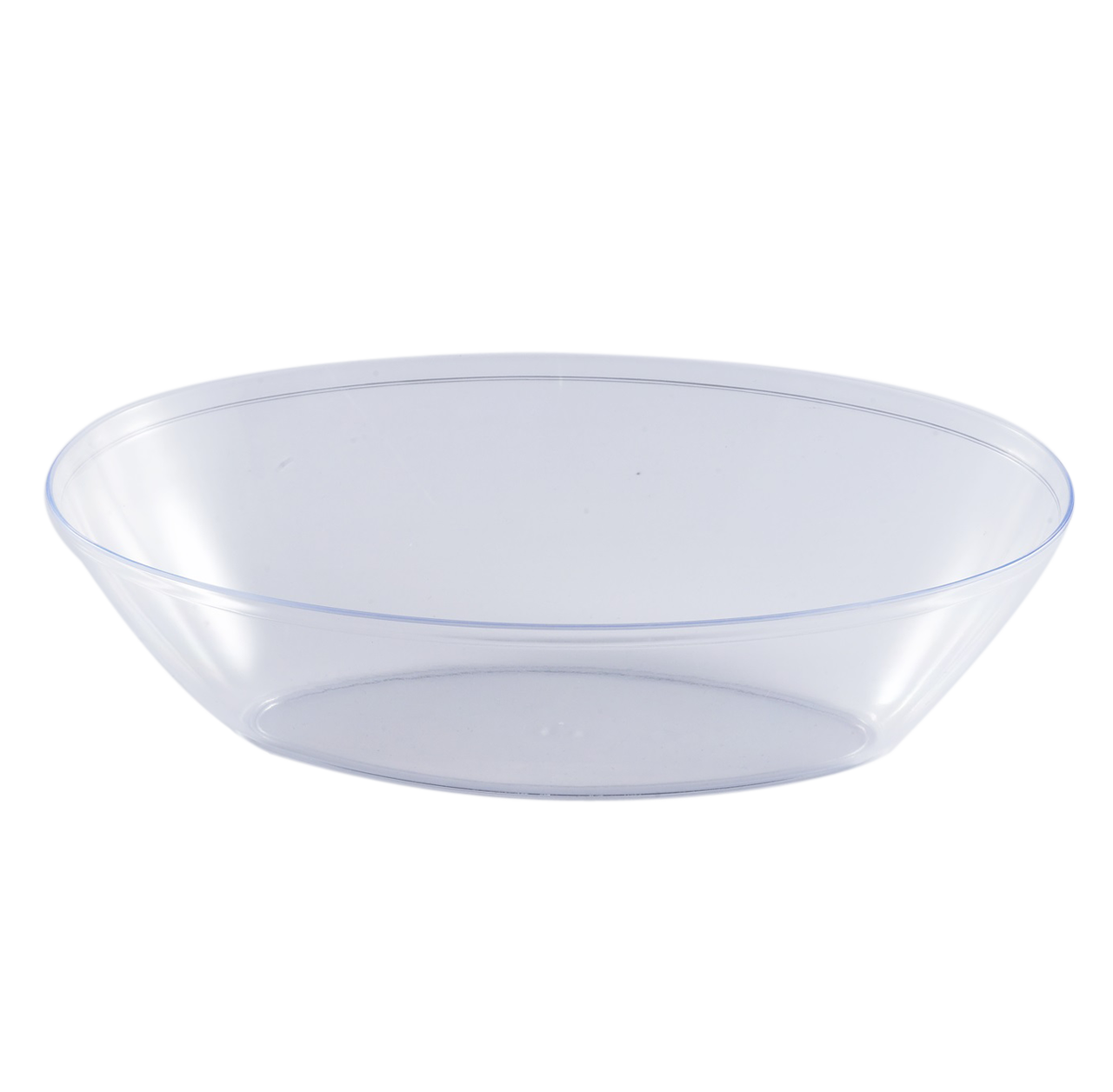 Clear transparent bowl. Oz oval serving the