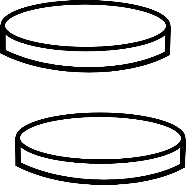 Clear vector template. Two coins clip art