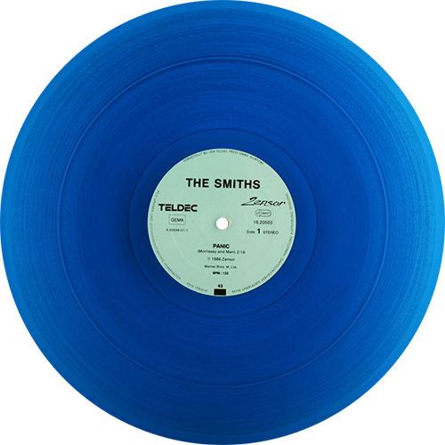 Clear vinyl record png. The smiths panic colored