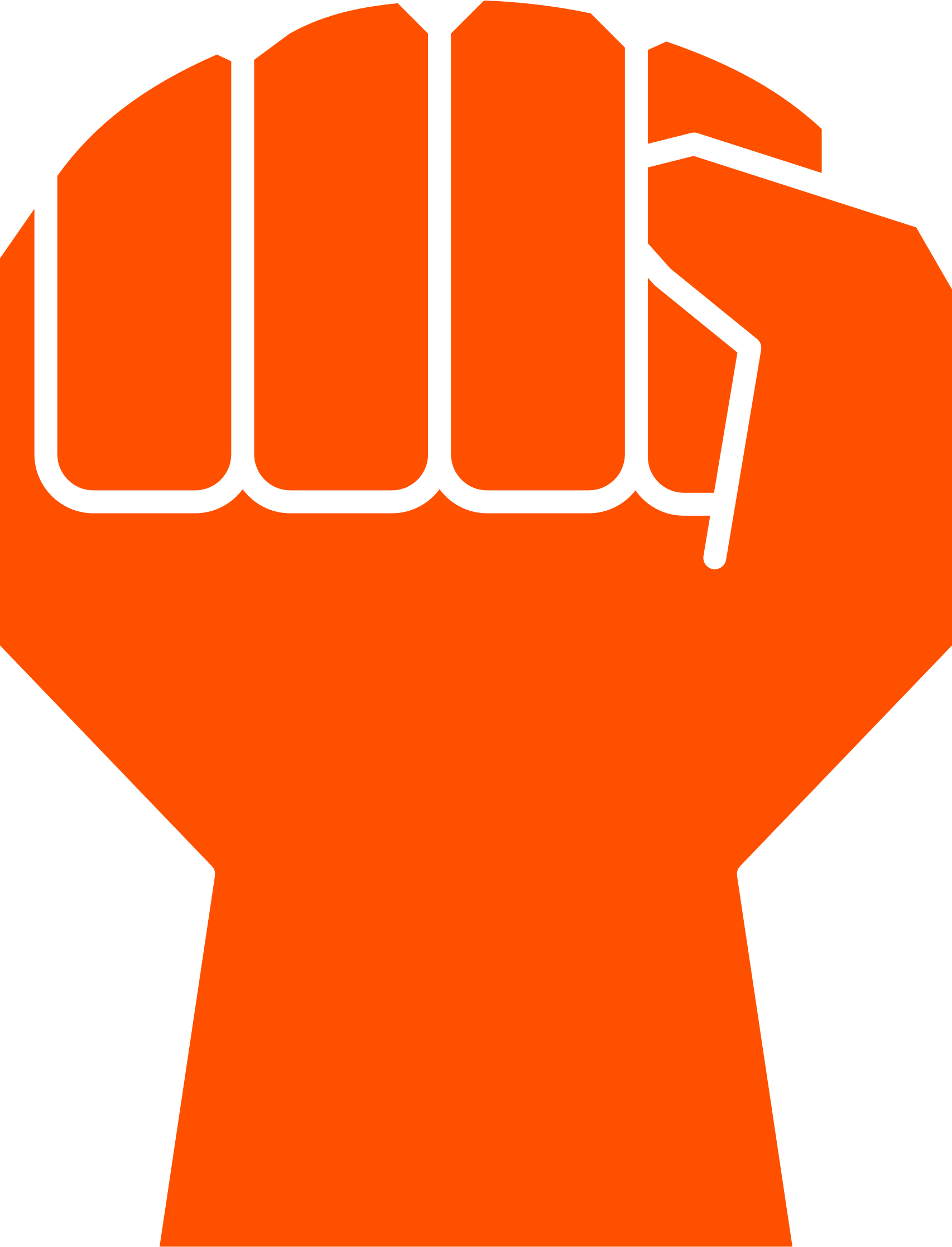 Croque drawing vector. Clipart clenched fist no