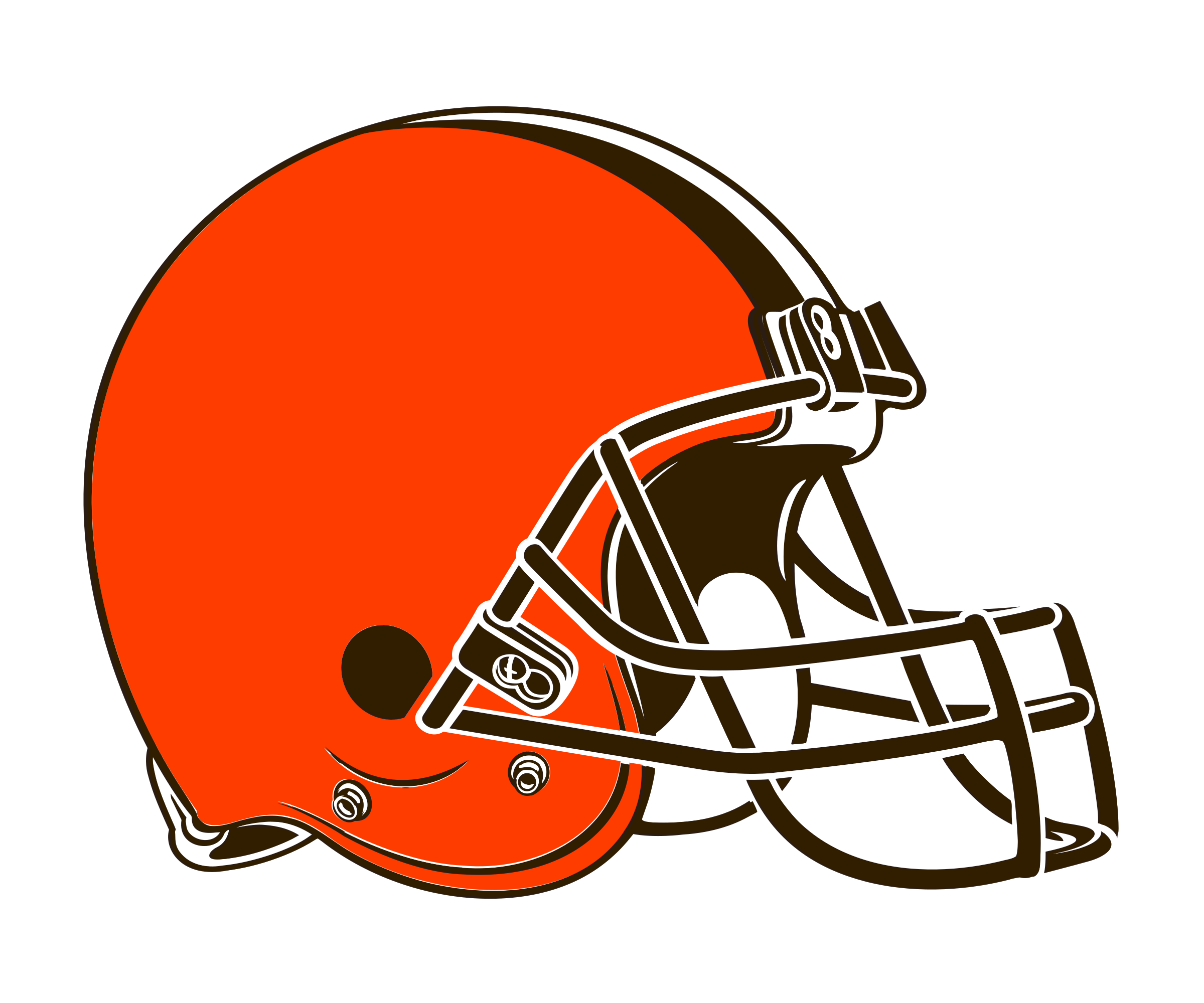 Cleveland browns helmet png. Logo transparent svg vector
