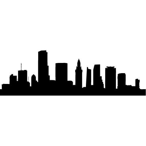 Cleveland. Free skyline vector download