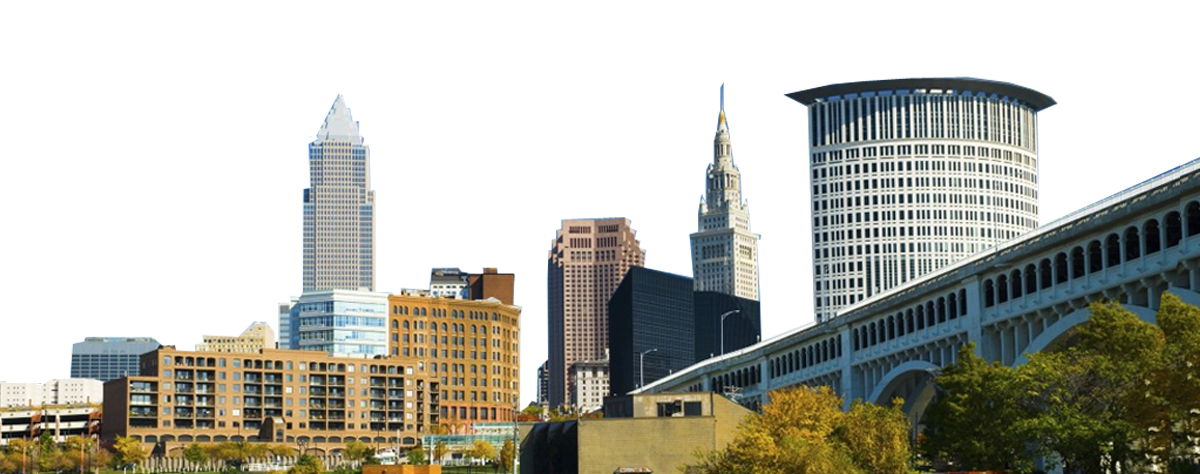 Cleveland skyline png. Tackla court reporting reporters