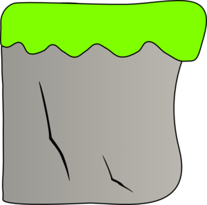 Cliff clipart. With grass clip art